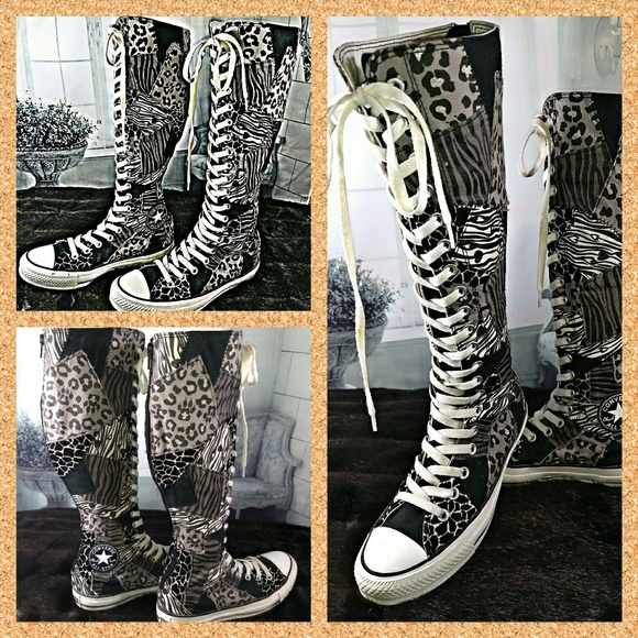 Converse Shoes - Converse Chuck Taylor Patches Knee High Sneakers